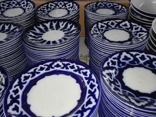 Узбекские тарелки из Риштана