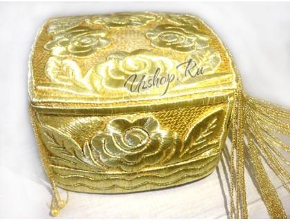 Узбекская женская золотая тюбетейка